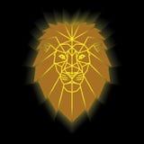 Gold lion head Stock Image