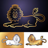Gold lion Stock Photos