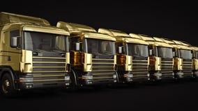 Gold-LKW lizenzfreie abbildung