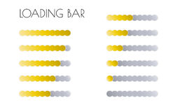 Gold loading bars Stock Photography