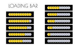 Gold loading bars Stock Photo