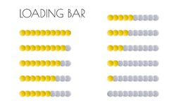 Gold loading bars Royalty Free Stock Images