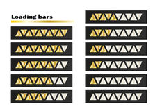 Gold loading bars Royalty Free Stock Photography