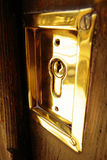Gold lock security door Royalty Free Stock Photography