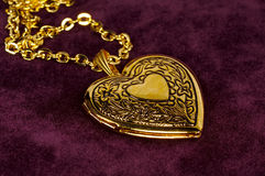Gold Locket stock photo