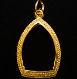 Gold locket frame pendant Royalty Free Stock Photo
