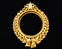 Gold locket frame pendant Stock Photo