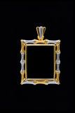 Gold locket frame pendant Royalty Free Stock Photo