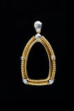 Gold locket frame pendant Stock Image