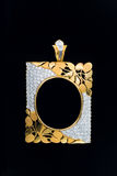Gold locket frame pendant with diamond Stock Images