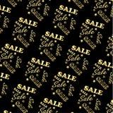Gold logo Sale pattern, Vector Stock Image