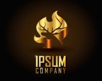 Gold Logo Vector Lizenzfreies Stockbild