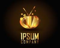 Gold Logo Vector Lizenzfreies Stockfoto