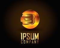 Gold Logo Vector Lizenzfreie Stockfotografie