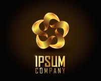 Gold Logo Vector. Elegant logo with gold abstract logo Royalty Free Stock Image