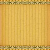 Gold Lotus on orange card board texture Royalty Free Stock Photo
