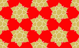 Gold Lotus Pattern Royalty Free Stock Image
