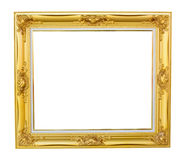 Gold louise photo frame Stock Image