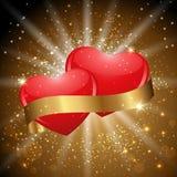 Gold love Royalty Free Stock Photos
