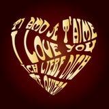 Gold love card royalty free stock photos