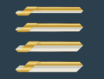 Gold lower third banner Stock Photography
