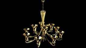 Gold Luster chandelier Royalty Free Stock Photo