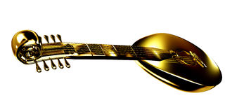 Gold lute Royalty Free Stock Photography
