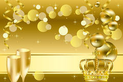 Gold luxury background Royalty Free Stock Image