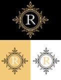Gold luxury brand logo design Royalty Free Stock Images