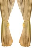 Gold luxury curtains Royalty Free Stock Photos
