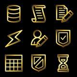 Gold luxury database web Stock Photo