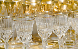Gold luxury glasses Stock Photography