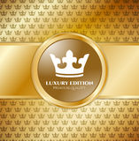 Gold Luxury invitation Royalty Free Stock Images