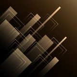 Gold luxury line on black background. Gold line on black background Royalty Free Stock Images