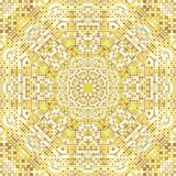 Gold pattern texture with golden mosaics in the Byzantine style/Antique mosaic/Mosaic tiles in antique style. Cobblestone texture royalty free illustration