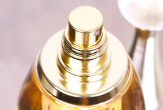 Gold luxury perfume Stock Images