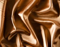 Gold luxury satin Stock Image