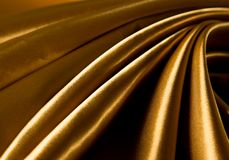 Gold luxury satin Royalty Free Stock Photography