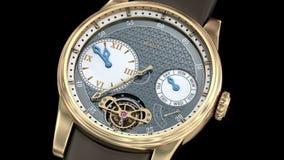 Gold luxury watch. Generic 3D model stock footage