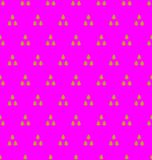 Gold on magenta tree in triangle pattern seamless repeat background. Two colour tree in triangle pattern seamless repeat background. Could be used for background Royalty Free Stock Photography