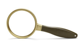Gold Magnifying Glass royalty free stock photo