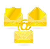 Gold mail Royalty Free Stock Photo