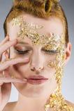 Gold Make Up Royalty Free Stock Photos