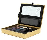 Gold makeup box Royalty Free Stock Image