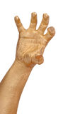 Gold man's hand Royalty Free Stock Image