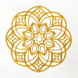 Gold mandala Royalty Free Stock Image
