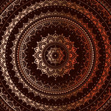 Gold mandala Stock Images