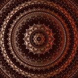 Gold mandala. On black background. Indian pattern Stock Images