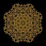 Gold mandala. Stock Photo