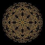 Gold mandala. Royalty Free Stock Photos